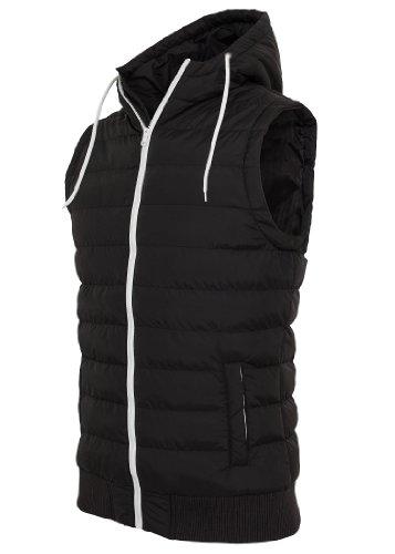 Urban Classics Small Bubble Hooded Vest, black/white, XL - Herren Bubble Vest