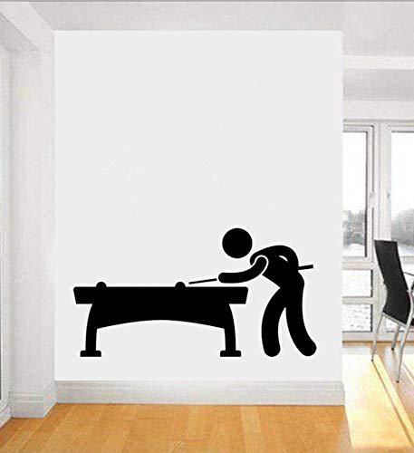 Qthxqa Billard Player Pub Spiele Vinyl Wandaufkleber Cartoon Sport Und Hobbies Wandaufkleber Spiele Kunst Aufkleber Für Baby Kinderzimmer 88 * 49 Cm
