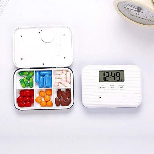 Ahuike eine Woche tragbare Smart Pill Box Alarm sowie Timer Pill Box Alarm Erinnerung -