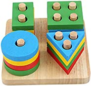 Wooden Puzzle toy Educational DIY Baby Toys Wooden Geometric Sorting Board Montessori Kids Educational Toys Bu