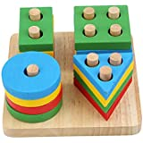 Wooden Puzzle toy Educational DIY Baby Toys Wooden Geometric Sorting Board Montessori Kids Educational Toys Building Puzzle C