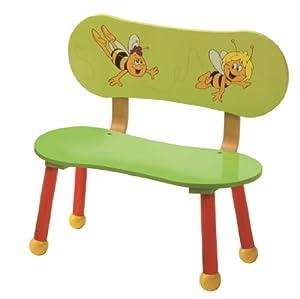 roba Maja 50861 BM1 - Banco de madera para niños, diseño La abeja Maya importado de Alemania