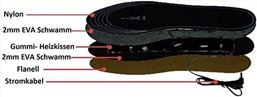 Beheizbare Einlegesohlen Thermosohlen Akkubetrieb( 4 Warmstufen), Größe: 36-47, waschbar - 6