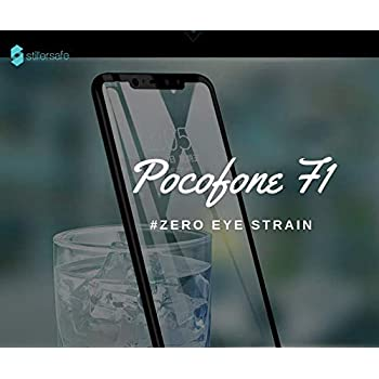 StillerSafe Xiaomi Pocophone Poco F1 Full Coverage 5D Tempered Glass, Full Edge-to-Edge 5D Screen Protector (Black)