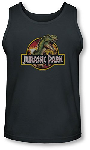 Jurassic Park - - Männer Retro-Rex Tank-Top Charcoal