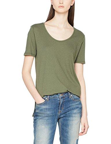 G-STAR RAW Damen T-Shirt Dyv Straight Deep R T Wmn S/S Grün (Lt Hunter 8165)