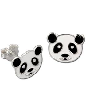 Tee-Wee Kinder Ohrring Panda weiß 925 Sterling Silber Kinderohrstecker Kinderschmuck SDO8103W