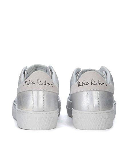Nira Rubens Sneaker Martini in Pelle Nuvola e Cuore Diamante Argento
