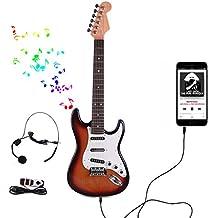 Rolanli Guitarra para Niños, 66cm 6 Cuerdas Guitarra Eléctrica de Instrumentos Juguetes Educativos para Niños