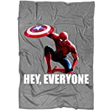 """DENSTORE The Amazing Spiderman Couverture pour lit et canapé, Spiderman de Captain America – Parfait pour superposer n'importe Quel lit. Medium Blanket (60""""x50"""") Fleece Blanket - Dark Grey..."""