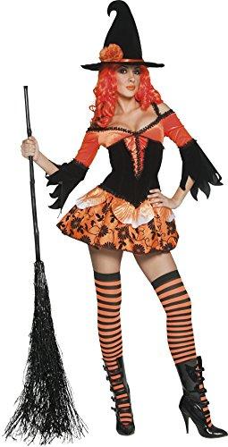 Hexen-Kostüm Halloween für Damen - M