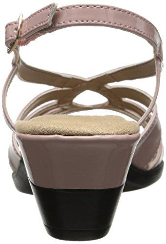 Soft Style by Hush Puppies Paci Synthetik Keilabsätze Sandale Soft Pink Patent Polyurethane