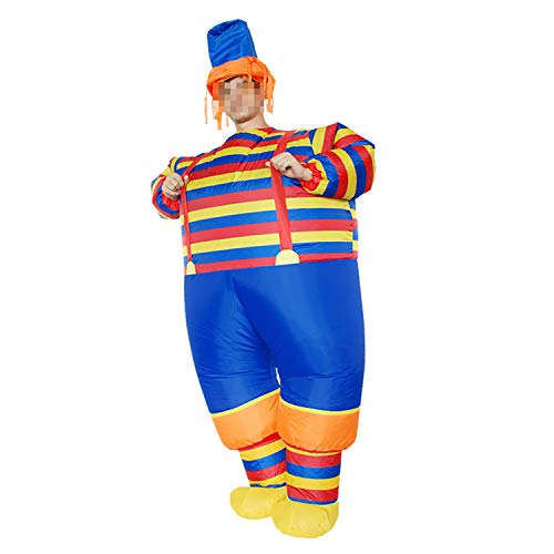 LOVEPET Halloween-Kostüm Clown Aufblasbare Kostüm Weihnachtsfeier Requisiten Adult Performance Kostüm Clown Hut (Aufblasbare Clown Kostüm)