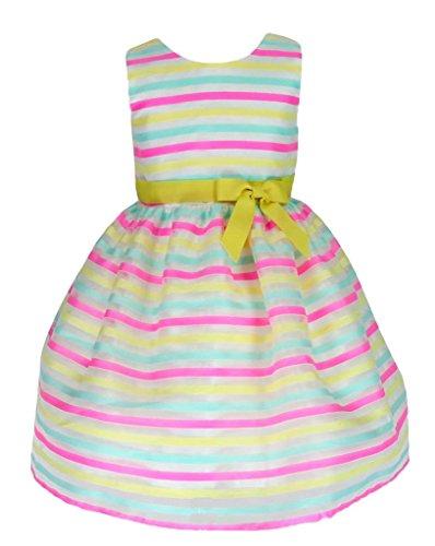 Organza Anlass Baby Infant Festzug Taufe Kleid Mehrfarbig 6 Monate Gr.74/80 (Multi882b-S#) (Baby Taufe Kleider)