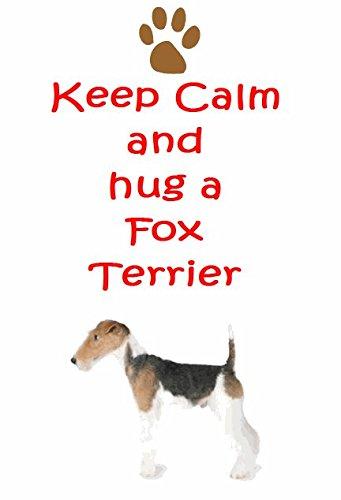 Fox terrier-Confezione da 9di ferro trasferimenti (3ciascuno di 3disegni) per bianco/chiaro cotone