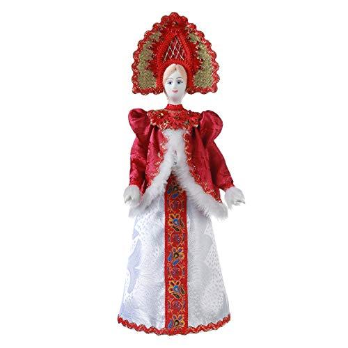 danila-souvenirs Russische handgemachte Porzellan Traditionelle Volkskostüm Puppe 31 cm - Russische Kostüm Traditionelle
