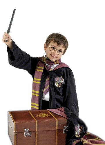 Harry potter cassa costume con gli occhiali, bacchetta, mantello, cravatta e sciarpa