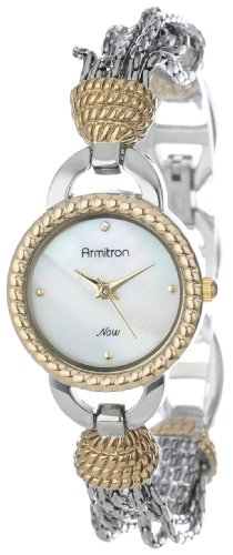 Armitron Women's 75/5036MPTT Two-Tone Chain Bracelet Watch with Crystal Accent