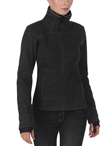 Bench Damen Strickjacke Eddas, Dark Shadow, S, BLFF0005