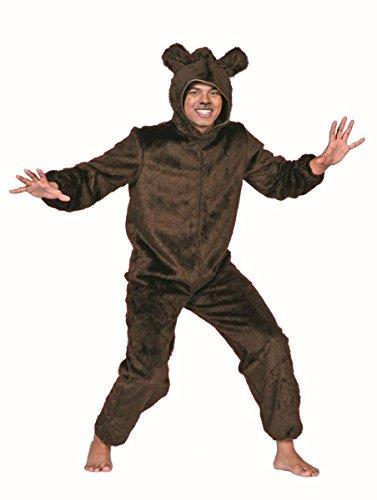 Herren Kostüm Bär in braun Braunbär Karneval Fasching Gr.52 (Für Braunbär-kostüm Erwachsene)