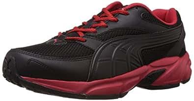 Puma Men's Atom Fashion DP Black-Black-High Risk Red Running Shoes - 10UK/India (44.5EU)