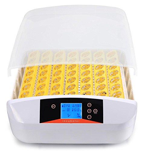 Aimado incubatrice automatica di 56 uova di gallina, quaglie, rettili, uccelli, incubatore intelligente digitale con schermo a led di temperatura, spina europea,【eu stock】