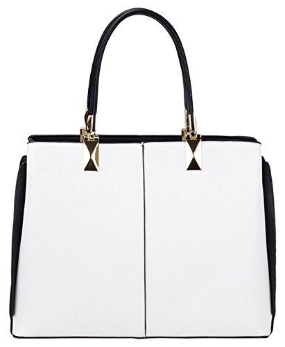 Kukubird Spencer Semi Ecopelle Cornered Wing Design Shoulder Bag White