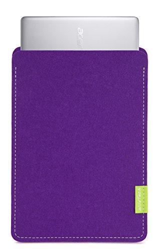WildTech Sleeve für Acer Chromebook 14 (CB3-431-C6UD) Hülle Tasche aus echtem Wollfilz - 17 Farben (Handmade in Germany) - Lila