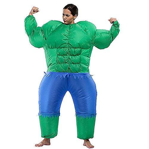 Giant Kostüm Green Adult - Bangxiu-festival Green Giant Erwachsene Aufblasbare Kostüm Kostüm Anzug Halloween Party Kostüm Party Cosplay Prom Requisiten (Farbe : Adult, Größe : Einheitsgröße)