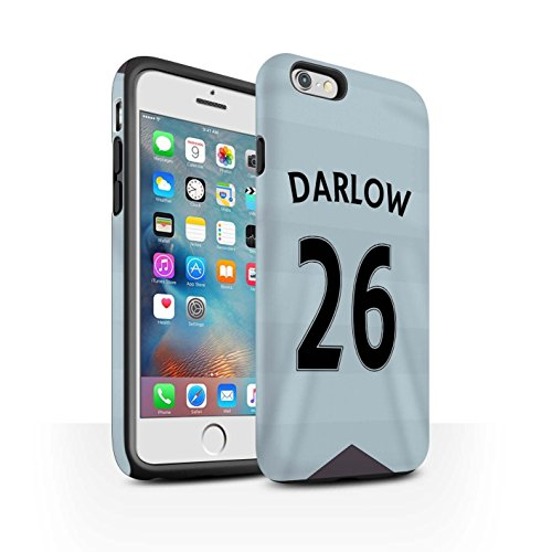 Offiziell Newcastle United FC Hülle / Matte Harten Stoßfest Case für Apple iPhone 6S+/Plus / Dummett Muster / NUFC Trikot Away 15/16 Kollektion Darlow