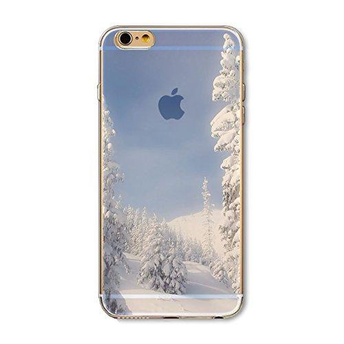 Coque iPhone 6 6s Housse étui-Case Transparent Liquid Crystal en TPU Silicone Clair,Protection Ultra Mince Premium,Coque Prime pour iPhone 6 6s-Paysage-style 7 7