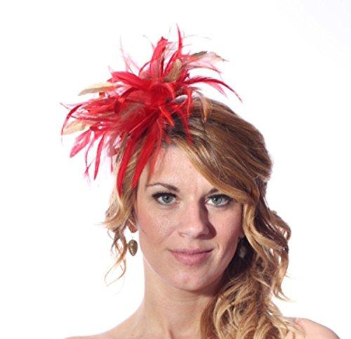 Maighread Stuart Millinery - Bandeau - Femme Multicolore - Red/Metallic Gold