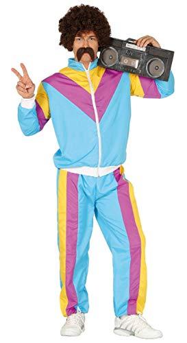 Fancy Me Herren-Trainingsanzug/Shellsuit / Shellsuit im Retro-Stil, 80er-Jahre-80er-Jahre-80er-Jahre-Achtziger-Jahre-Stil, Blau (Achtziger Jahre Stil Kostüm)