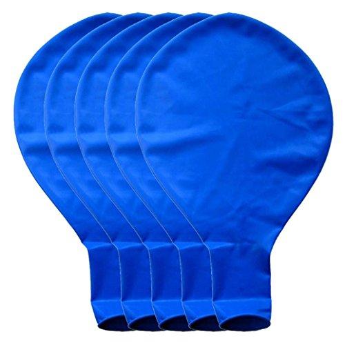BZLine Großer riesiger Ovaler Großer Latex-Ballon, 5 Stück 36 Zoll 90cm Perle Latex Luftballons für Party Luftballons Spielzeug für Kinder Hochzeit Party Festival Dekoration (Blau) (Blau Hochzeit Dekorationen)