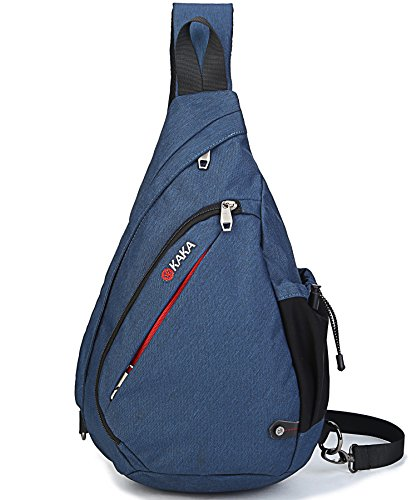 FreeMaster Sport Rucksack Shoulder Backpack Sling Chest Hiking Bag Cross Body Bags for Camping Gym Cycling Biking School Bag Small Backpack (Blue)