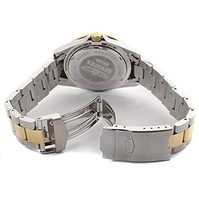 Invicta 8935 - Reloj analógico de cuarzo, unisex, con correa de acero inoxidable, color plateado/dorado/azul de Invicta