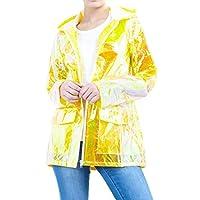 CHOCOLATE PICKLE New Ladies Unicorn Lightweight Hooded Fluorescent Neon Festival Kagool Raincoat Mac Jacket 8-14