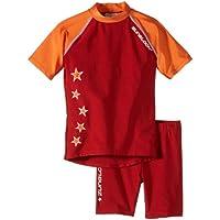Zunblock Stars not stripes Anti-UV - Camiseta y pantalones cortos para niños, color rojo (Red/Orange), talla 2 años