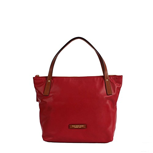 The Bridge Calypso Borsa tote Shopper pelle 40 cm red currant-brown-gold
