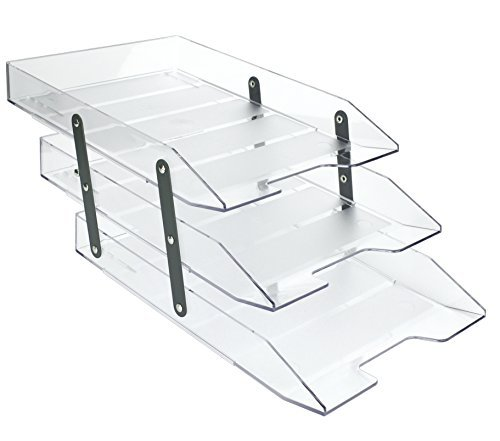 Klar Farbe (acrimet Articulated Briefablage Triple (Kristall klar Farbe))