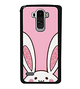 Cute Rabbit 2D Hard Polycarbonate Designer Back Case Cover for LG G4 Stylus