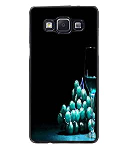 PrintDhaba Blue Berries D-3808 Back Case Cover for SAMSUNG GALAXY E5 (Multi-Coloured)