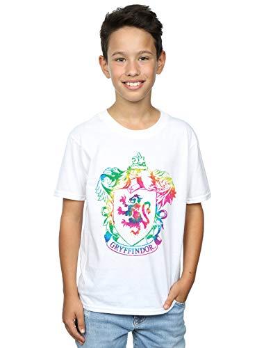 Harry Potter Jungen Gryffindor Crest Tie Dye Infill T-Shirt Weiß 12-13 Years