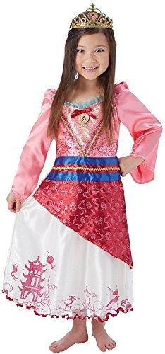 rzähler - Disney Prinzessin - Kinder Kostüm - Groß - 128cm - Alter 7-8 (Mulan Kinder Kostüme)