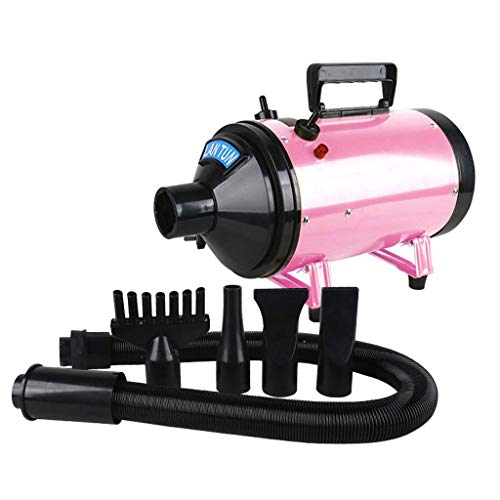 H.JPT 2200W Dog Cat Pet Grooming Hair Dryer Hairdryer Blaster Blower Water High for Power Cold Wind Hot Temperature Low Noise Blowing Device (Color : PINK) -