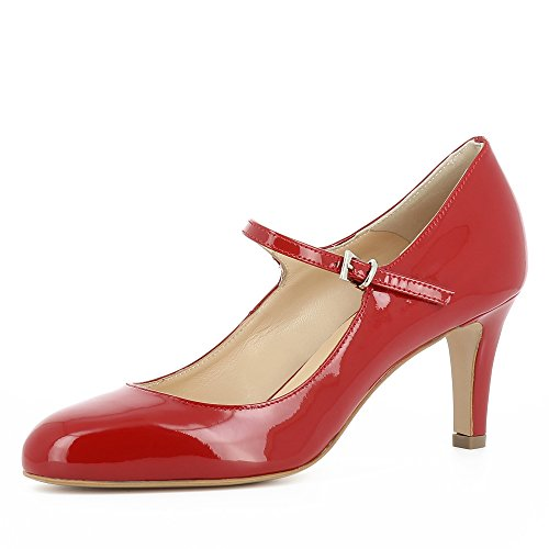Evita Shoes BIANCA Damen Pumps Lack Dunkelblau 40