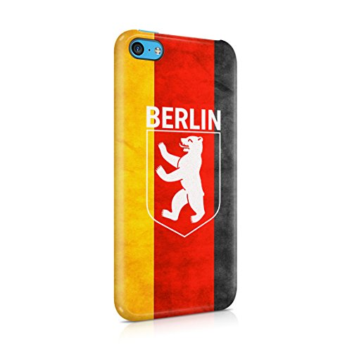 Capital City Berlin Germany Fernsehturm Television Tower Custodia Posteriore Sottile In Plastica Rigida Cover Per iPhone 6 & iPhone 6s Slim Fit Hard Case Cover Bear Emblem