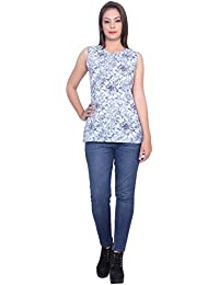 Gaurangi Women's Summer Top,Sleeveless Tunic Tops