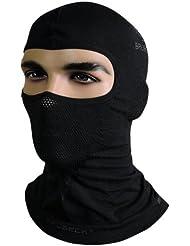 Brubeck Masque cagoule thermique fonctionnel - Moto- + Ski Balaklawa (Cagoule de ski fonctionnelle, Balaklawa, bonnet casque de moto noir/blanc)