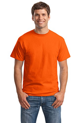 Hanes Big Mens Born to Be Worn 100% Cotton T-Shirt Orange